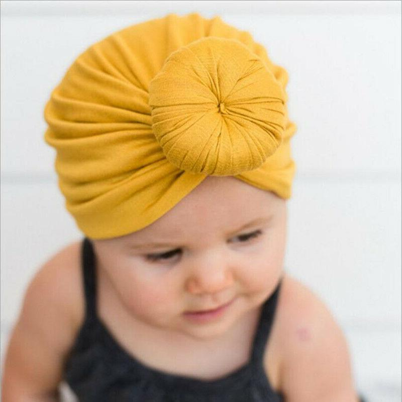 Kids Girls Baby Toddler Turban Knotted Headband Hair Band Ac