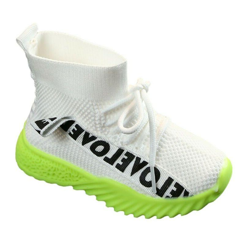 Kids Boys Girl Mesh Boots Sport Shoes Breathable US