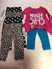 Lot of 6 Pieces Gerber Graduate Outfit and Leggings Baby Gir