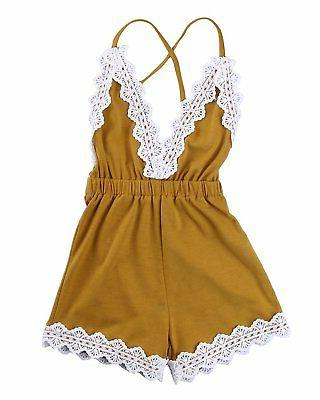 Ma&Baby Baby Girls Halter One-pieces Romper Jumpsuit Sunsuit