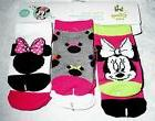 Disney Baby MINNIE MOUSE 6 Pair Girls Infant Socks Size 3-12