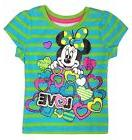 Disney Minnie Mouse Girls T Shirt  Baby Short Sleeve Top Siz