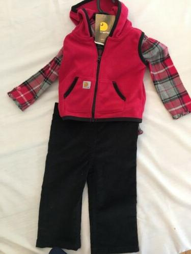 new baby girl s 9m fleece vest