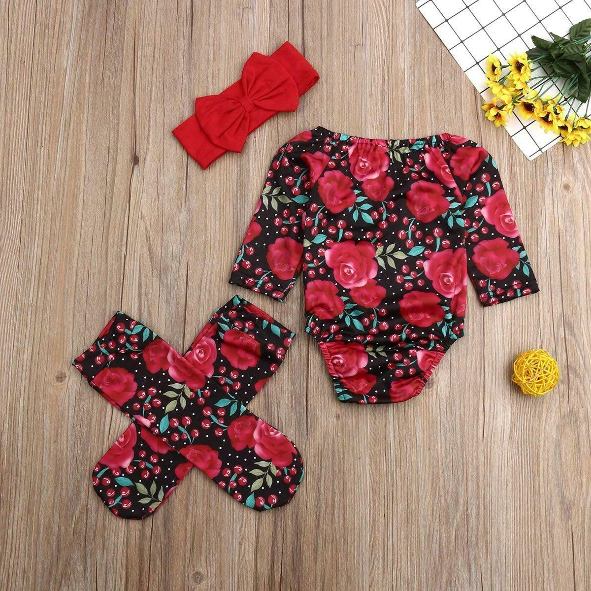New Baby Girl Romper Bodysuit Outfits Clothes
