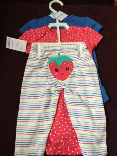 NEW Carters baby girl 6 month Three Piece Clothing Set