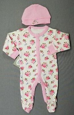 NEW! LUVABLE FRIENDS BABY GIRL FOOTED OUTFIT
