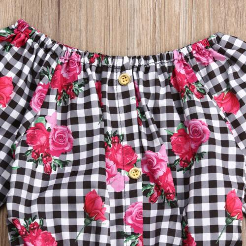 New Toddler Girl Flower Pants Outfits Set US