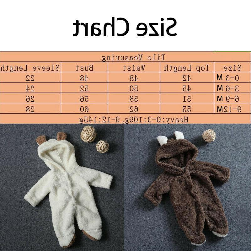 Bear Romper Jumpsuit Outfits Hooded Warm