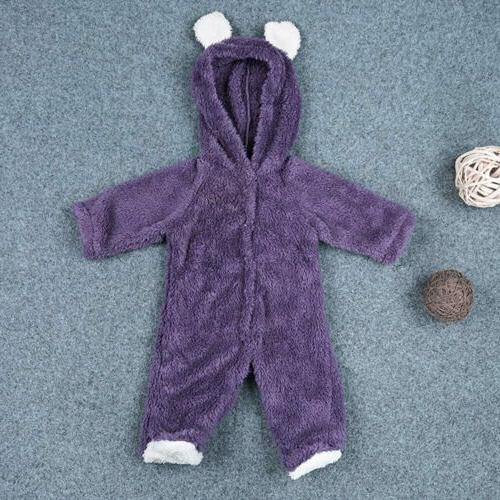 Newborn Baby Girl Bear Romper Jumpsuit Outfits Clothes