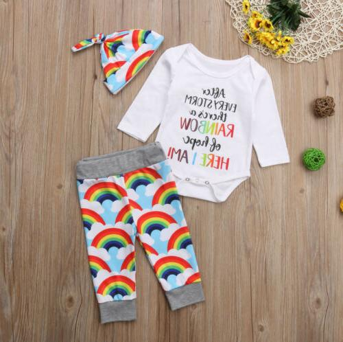 Rainbow Tops Jumpsuit+Pants Hat