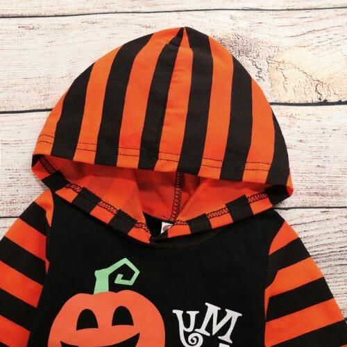 Newborn Baby Boy Striped Jumpsuit Halloween Clothes Outfit