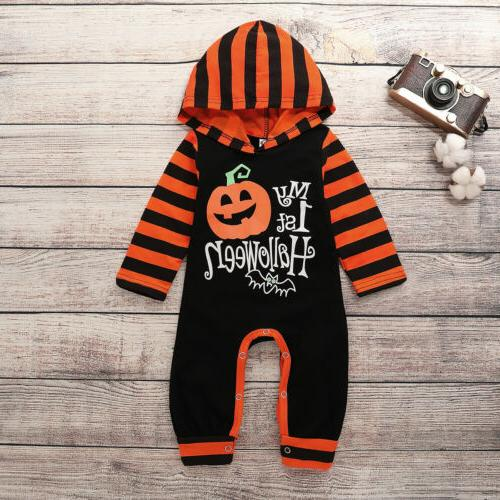 Newborn Striped Jumpsuit Halloween Clothes Outfit