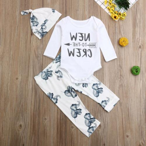 Newborn Baby Girl Boy Tops Elephant