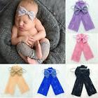 Newborn Baby Girl Outfit Lace Leg Warmers Bow-knot Headband