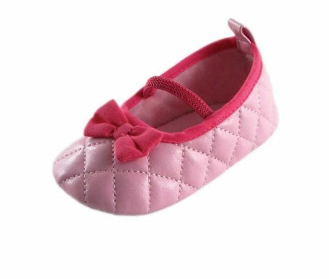 Luvable Friends Newborn Baby Girl Quilted Mary Jane Shoes