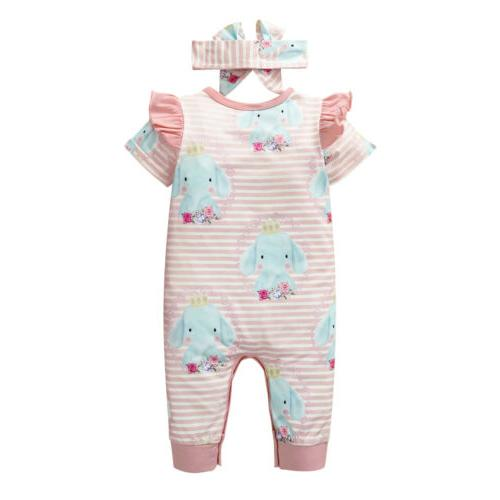Newborn Printed Romper Clothes Jumpsuit Outfits