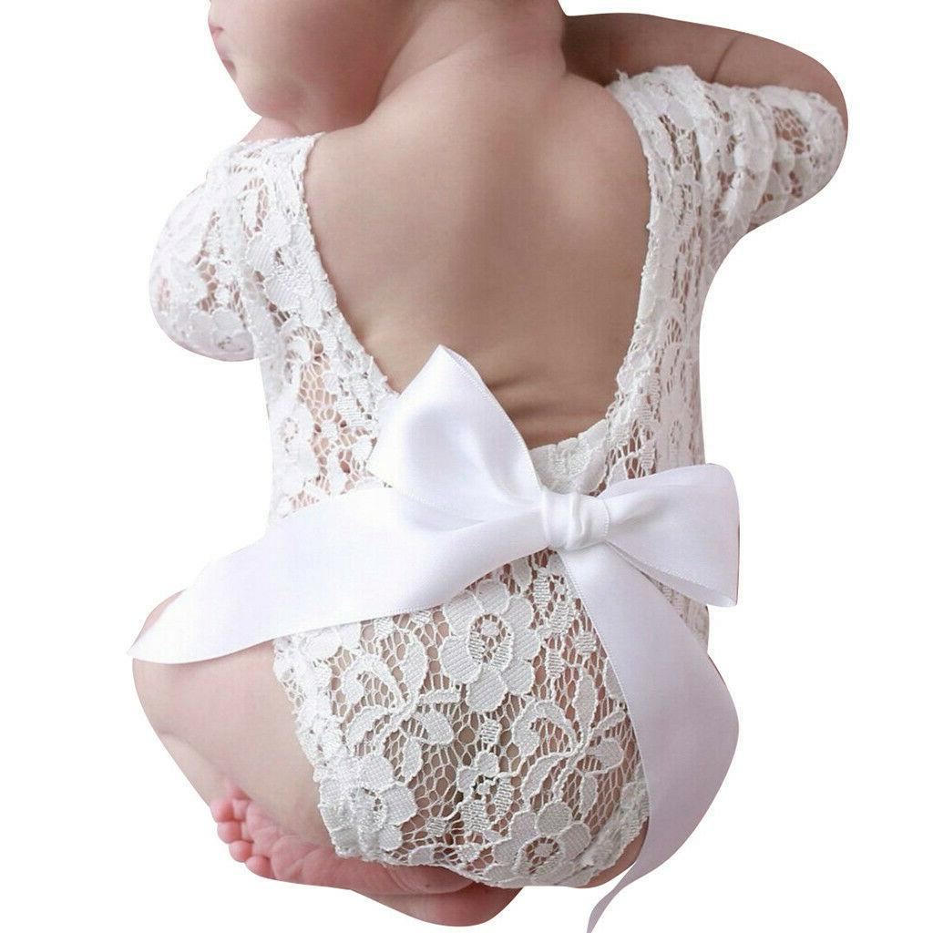 Newborn Infant Baby Girl Boy Props Bow Clothes