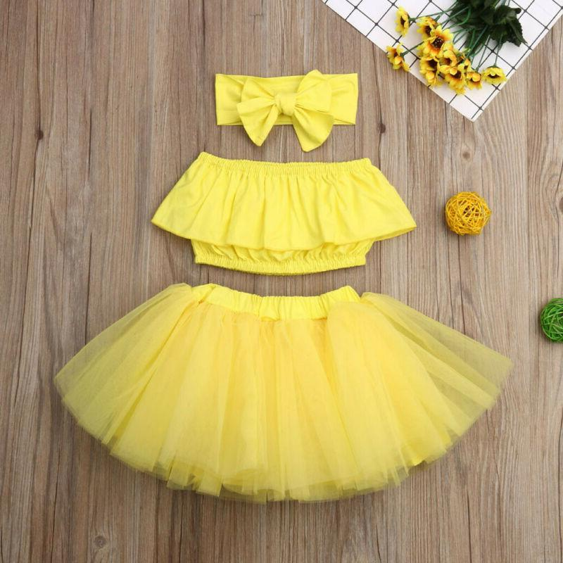 3PCS Baby Girl Outfits Dress Jumpsuit Set