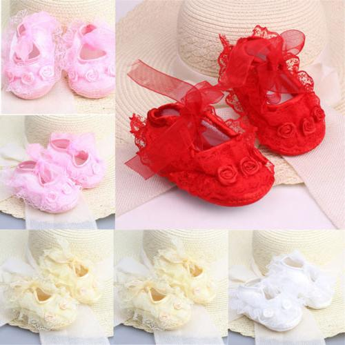 Newborn Infant Baby Girl Princess Baby Shoes Soft Sneaker