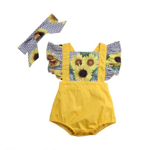 Sunflower Romper Outfits Set