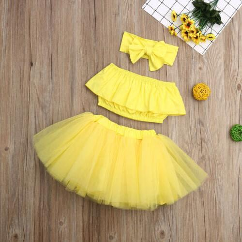 Newborn Kid Baby Girl Clothes Tube Tutu Skirt Outfits
