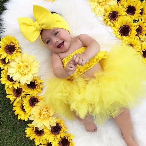 Newborn Kid Baby Girl Clothes Tutu Skirt Outfits