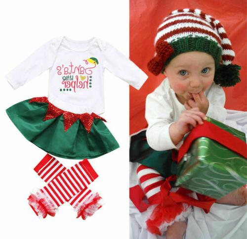 Newborn Baby Christmas Halloween Dress Pants Outfit Clothes