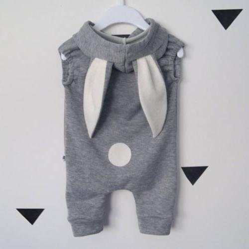 Girl Romper Hooded Jumpsuit Outfit