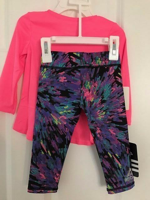 ADIDAS NWT Girls Pants Yoga Pink 12