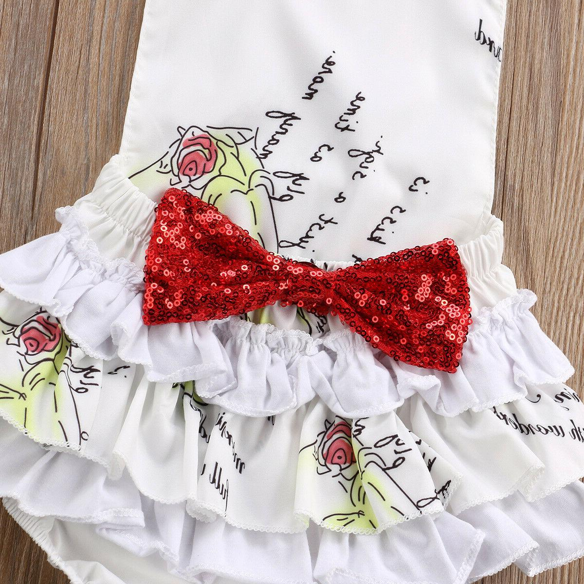 NWT White Disney Romper Headband Set