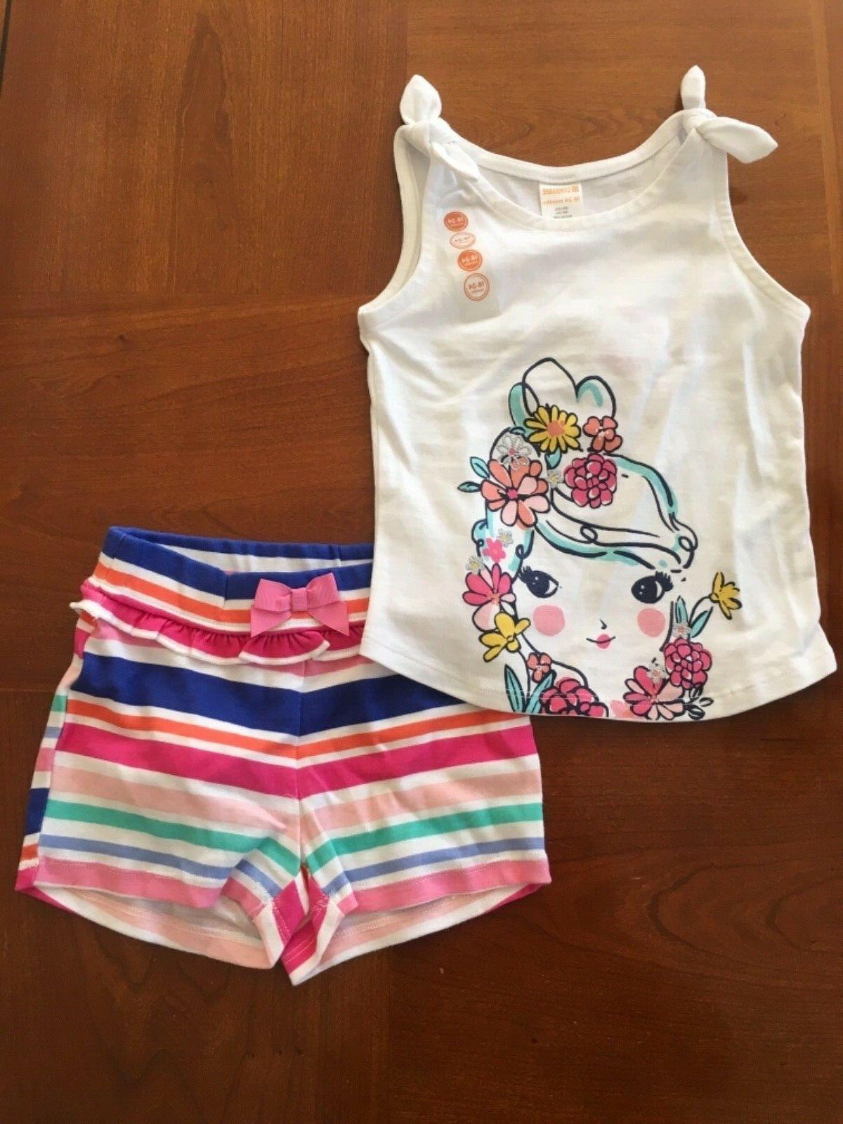 nwt baby girl tank and short outfit
