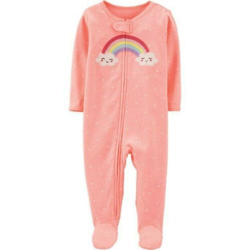 NWT Carters Baby Girl Clothes 3 Months One Piece Rainbow Foo
