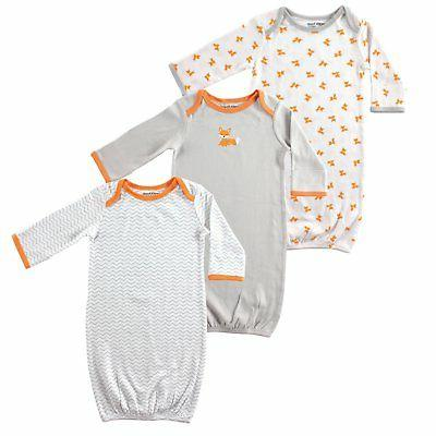 pajamas Luvable Friends Baby Girls' Cotton Gowns, 3 Pack