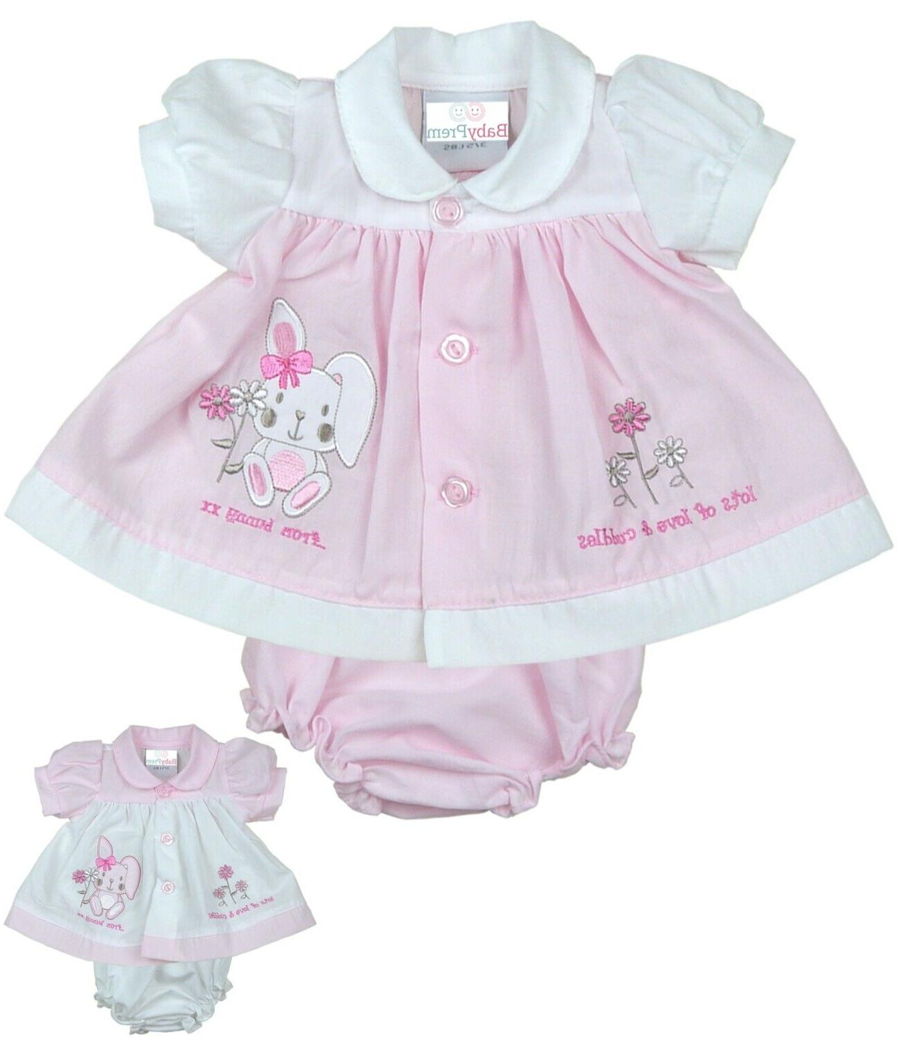 preemie micro baby clothes girls dresses pink