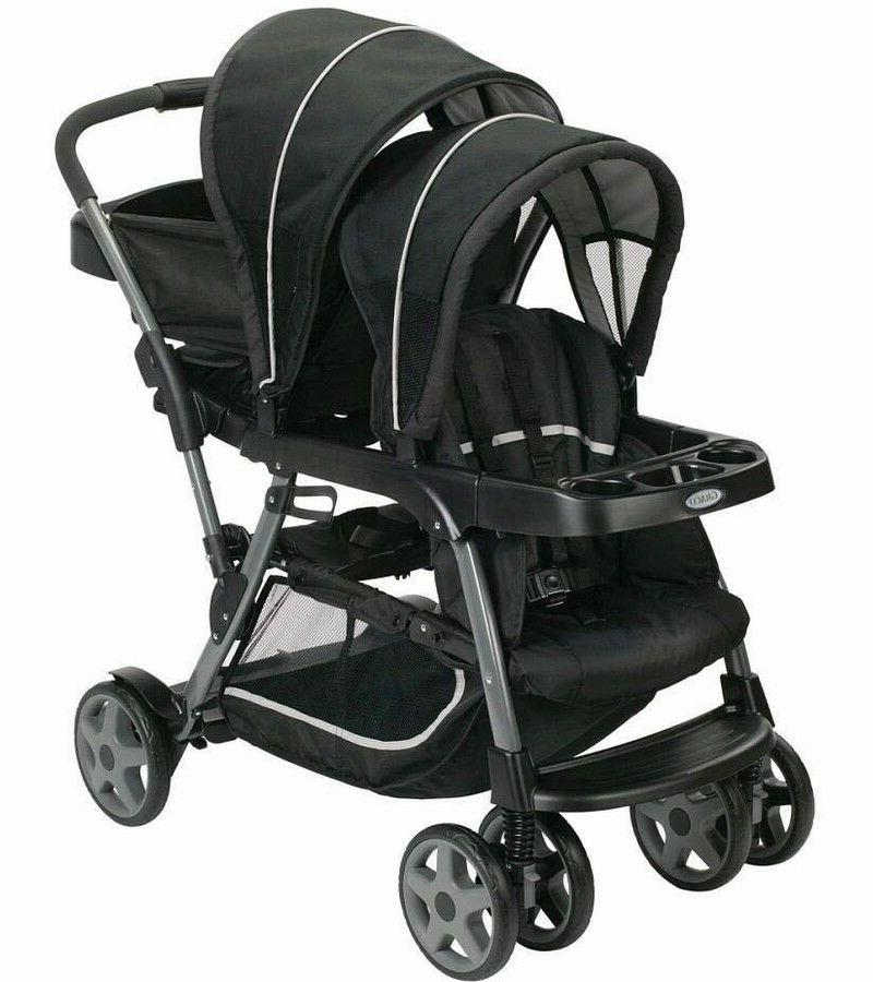 Graco Ready2Grow Click Connect Double Stroller - Onyx - Bran