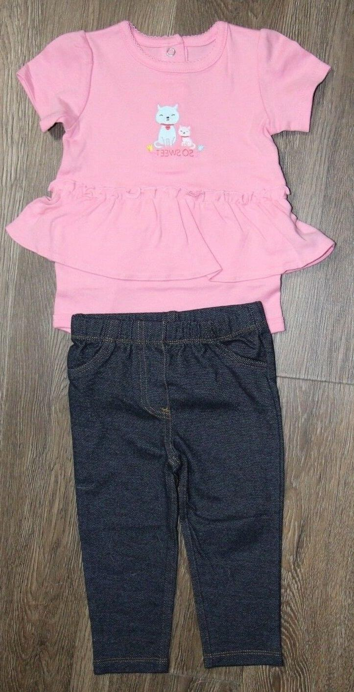 Simple Joys by Carter's Baby Girl NWOT 2 Piece Set Bodysuit