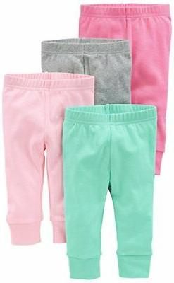 236f8ccfa Simple Joys by Carter's Baby Girls 4-Pack Pant, Pink/Grey, 3