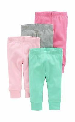 Simple Joys by Carter's Baby Girls' 4-Pack Pant 0 - 3 Months