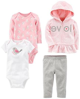 168987157 Editorial Pick Simple Joys by Carter's Baby Girls' 4-Piece Little Jacket Se