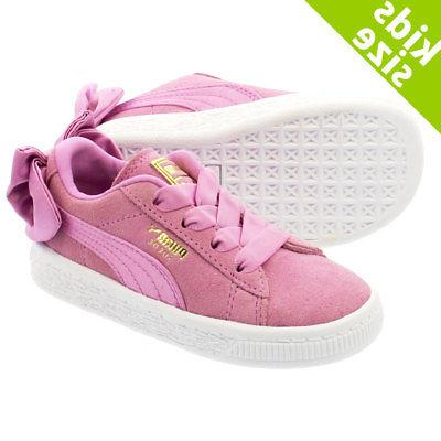 Puma Suede 36732005 Bow Orchid Pink White Infant