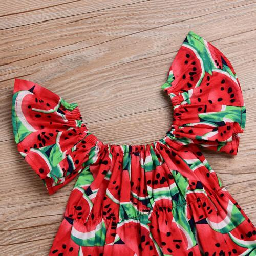 Summer Baby Girls Red Watermelon Jumpsuit