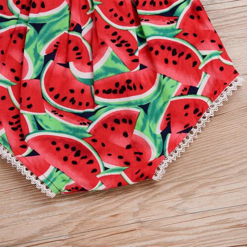 Summer Red Watermelon Jumpsuit Outfits Sunsuit