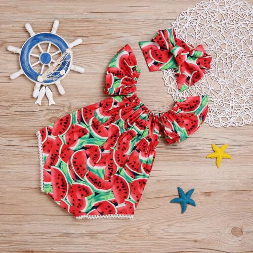 Summer Infant Red Watermelon Romper Jumpsuit