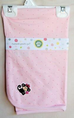 LITTLE ME TAG-ALONG BLANKET 27X27 Light Pink GIRL Sweet Baby
