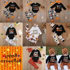 Baby Boy Girls First Halloween Romper Tops Jumpsuit Pants Ou