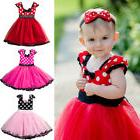 toddler baby girl minnie mouse bow dots