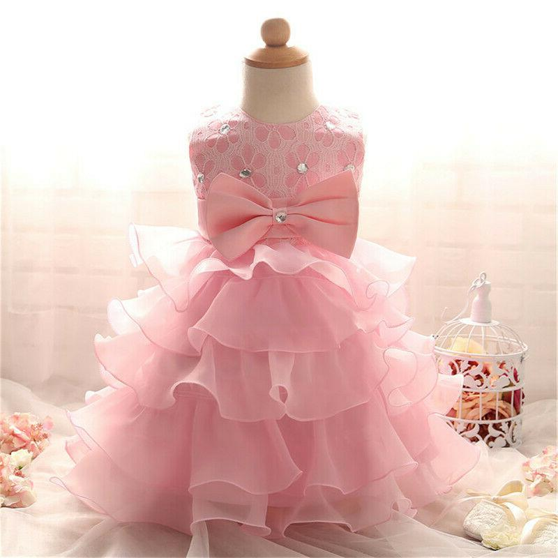 Toddler Girl Girls Baptism Gown Party