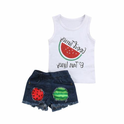 Toddler Baby Clothes Vest Tank Shirt Shorts Outfit