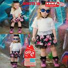 Toddler Kids Baby Girl Lace T-shirt + Floral Short skirt Out