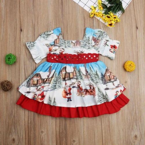 Toddler Kids Christmas Dress Party US